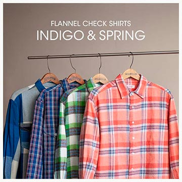 INDIGO&SPRING FLANNEL CHECK SHIRTS