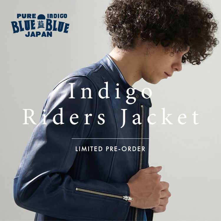 BLUE BLUE JAPAN LEATHER RIDERS JACKET LIMITED PREORDER