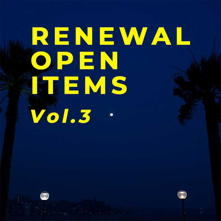 RENEWAL OPEN ITEMS VOl.3