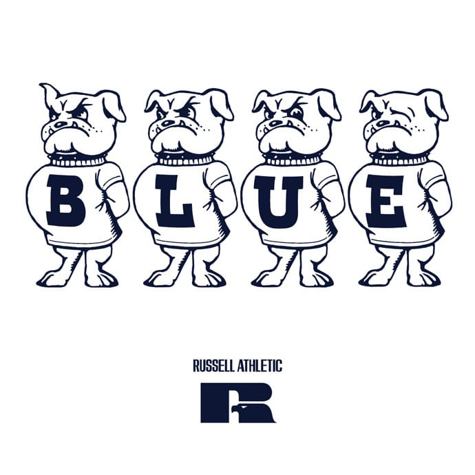 RUSSELL BLUEBLUE 3D LOGO