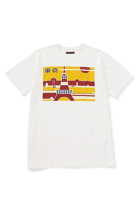 BLUE BLUE レトロプリント TOKYO Tシャツ