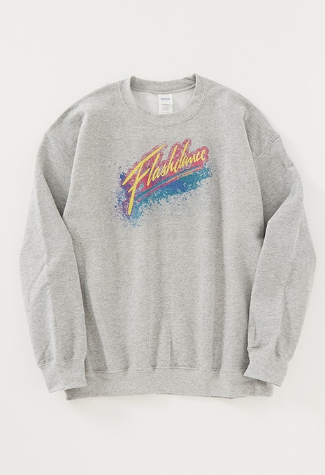 FLASHDANCE SPRAY LOGO スウェット
