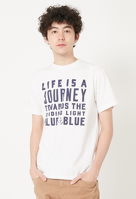 JOURNEY BLUE BLUE ロゴ Tシャツ