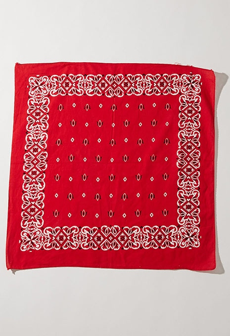 USED RED PAISLEY BANDANA