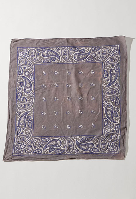 USED GREY PAISLEY BANDANA