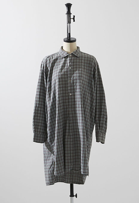 VINTAGE PLAID PYJAMA LONG SHIRT