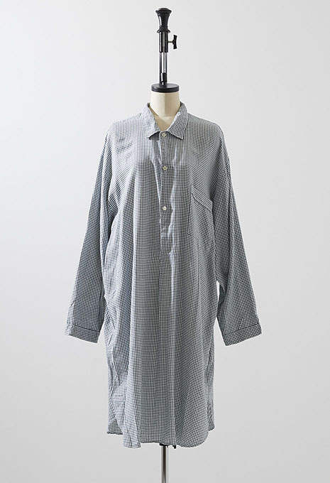 VINTAGE NOVILA PLAID PYJAMA LONG SHIRT