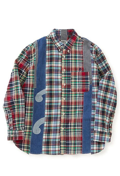 HRR Switching madras check Patchwork Shirt