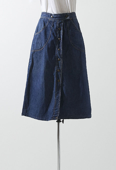 VINTAGE WOMENS 70s DENIM SKIRT