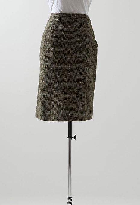 VINTAGE WOMENS TWEED WOOL SKIRT