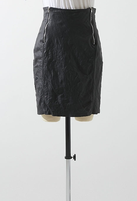 VINTAGE WINLIT LEATHER ZIP SKIRT