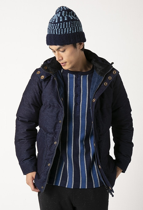 GAIJIN MADE GJK-212 INDIGO DOBBY DOWN JACKET